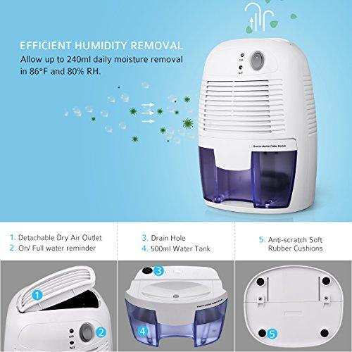 d shumidificateur d 39 air homasy absorbeur d 39 humidit portable compact. Black Bedroom Furniture Sets. Home Design Ideas